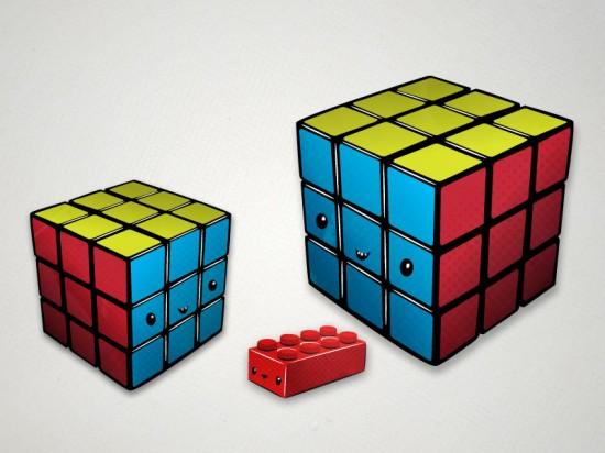 Rubik's and lego